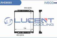 Радиатор основной IVECO Trakker (00-) Lucent 41218266