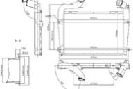 Интеркулер Scania 97061