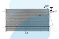 Конденсер (радиатор системы кондиционирования) SCANIA R/G серия (07-) 1752264